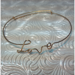Vintage 'LOVE' Wire Wrap Bracelet